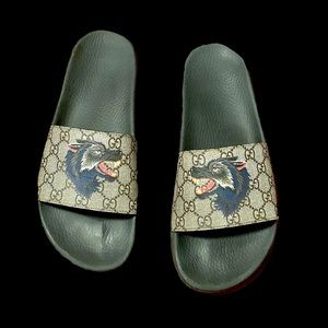 Gucci Wolf Sliders/ Sandals/ Slip ons